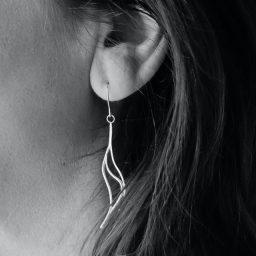 Ear with heavy earring
